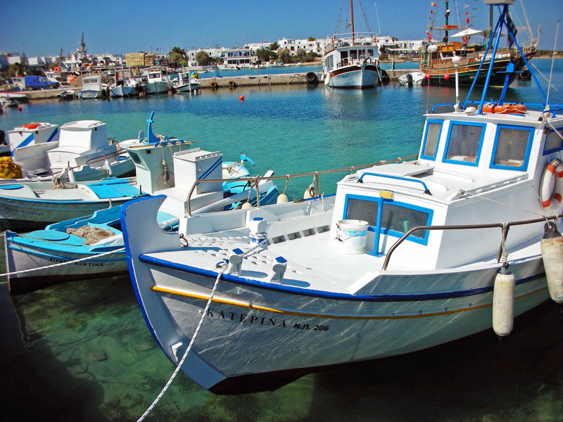 The harbor of Paros, Greece
